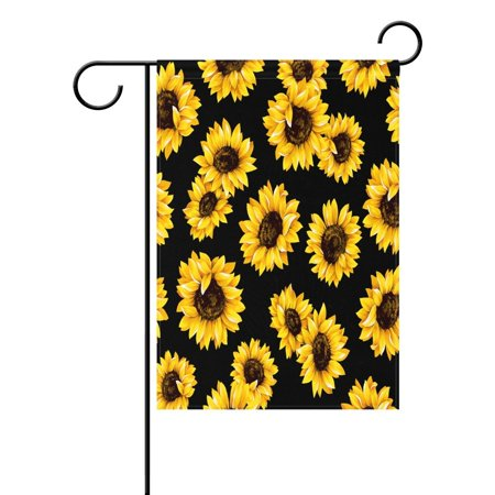 POPCreation Shabby Chic Sunflower Garden Flag Beautiful Flower Outdoor Flag Home Party 28x40 inches ()