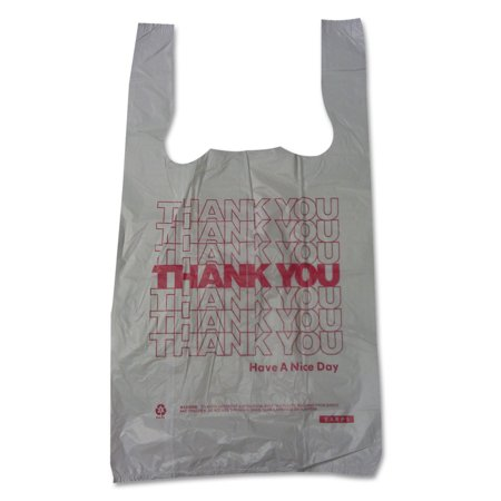Barnes Paper Company Plastic Thank You T-Sacks, 6