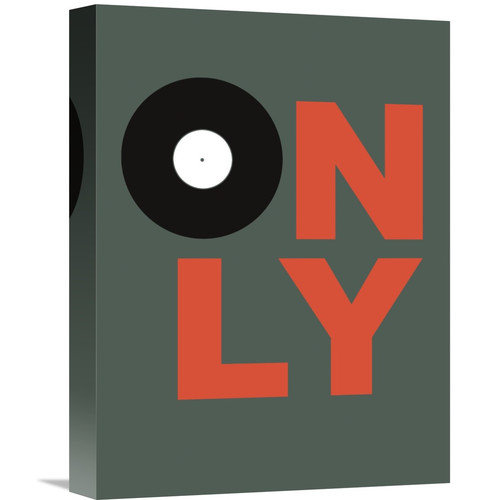 Naxart 'Only Vinyl Poster 2' Textual Art on Wrapped Canvas