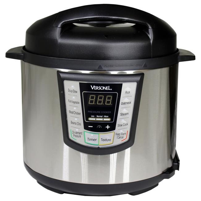 Versonel VSLPC60 6 Quart Programmable 6-In-1 Electric Pressure Cooker