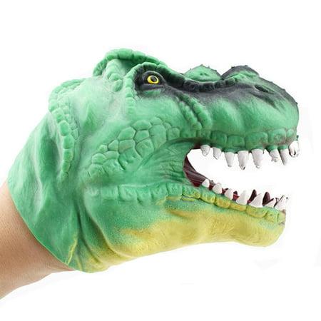 Dinosaur Hand Puppet Baby Infant Kid Toy Plush Toys Silica Gel Spoof - Dinosaur Puppy