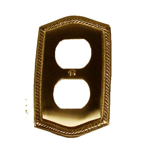 BRASS Accents Rope Single Outlet Switch Wall Plate (Set of 3)