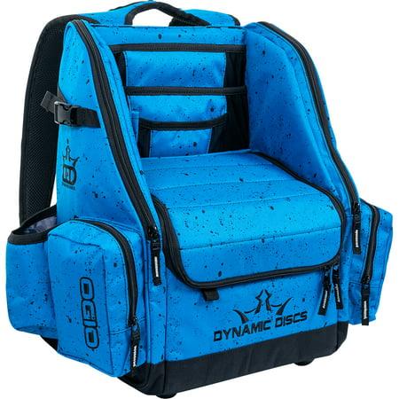 Dynamic Discs Commander Backpack Disc Golf Bag Blue Splatter