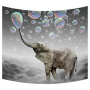 GCKG Cute Animal Elephant Tapestry Wall Hanging,Wall Art, Dorm Decor,Wall Tapestries Size 51x60 inches