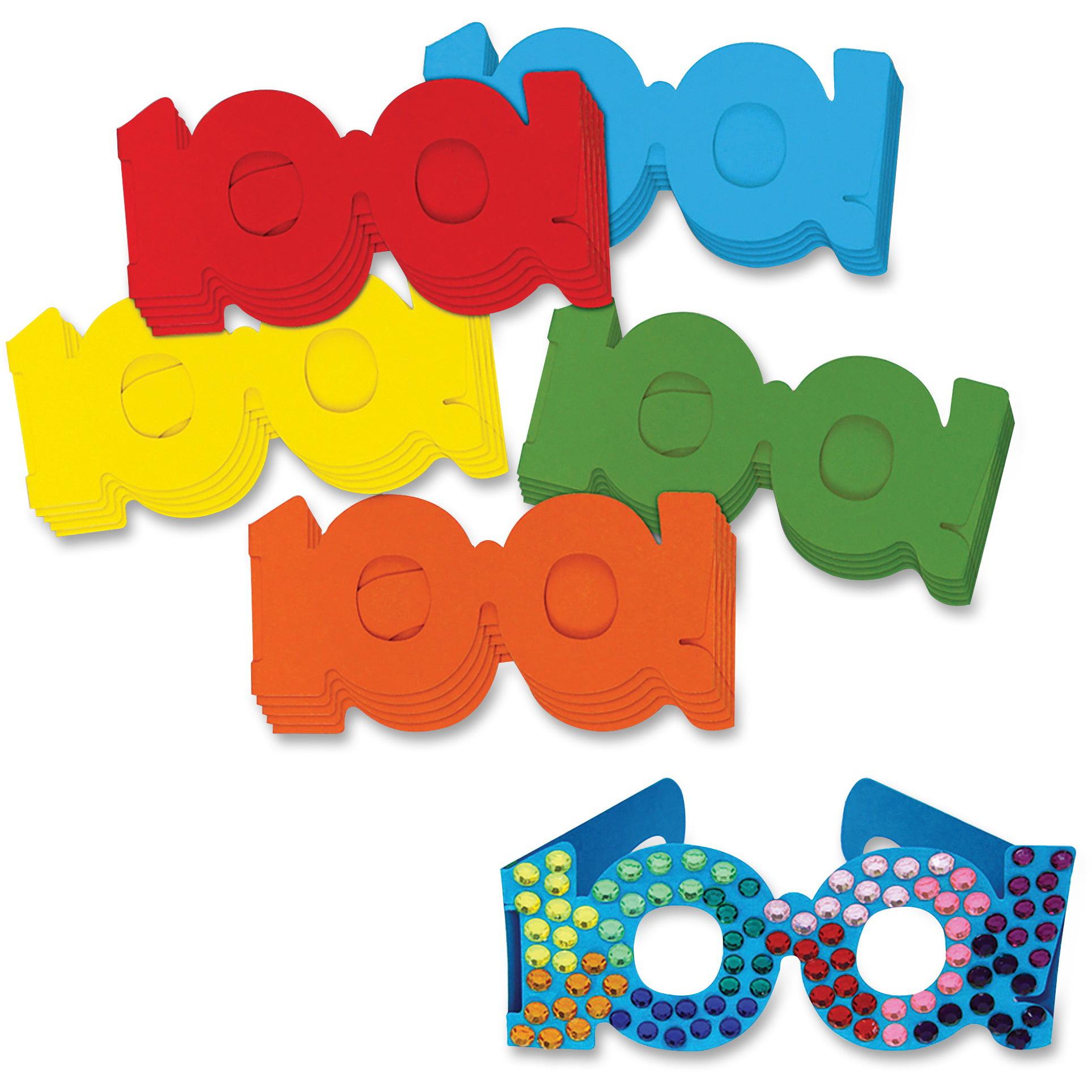 Creativity Street, CKC4671, 100th Day Paper Fun Glasses, 25 / Set, Assorted