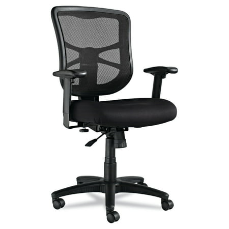 Alera Elusion Series Mesh Mid-Back Swivel/Tilt Office Chair, - Mesh Back Chair Air Grid