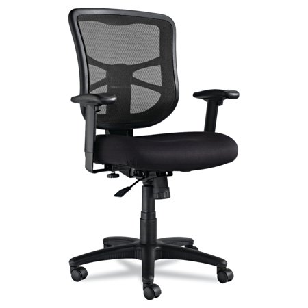 Alera Elusion Series Mesh Mid-Back Swivel/Tilt Office Chair, Black Power Podiatry Chair