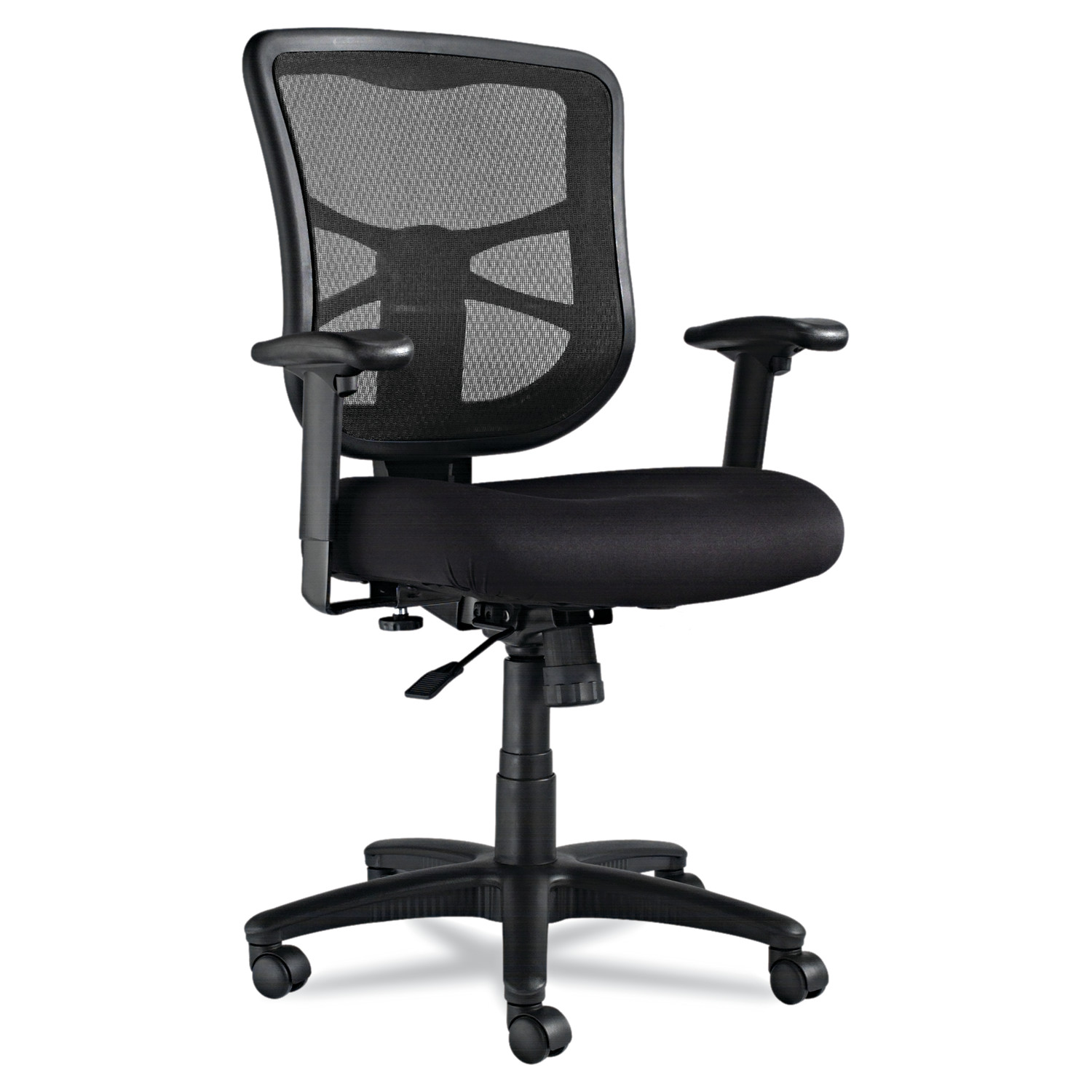 Alera Alera Elusion Series Mesh Mid-Back Swivel/Tilt Chair, Black
