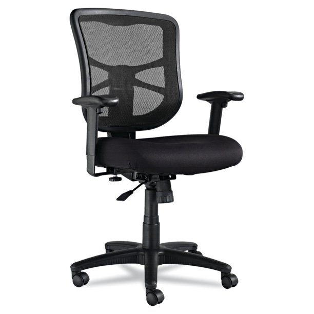 Alera Elusion Series Mesh Mid-Back Swivel/Tilt Office Chair, Black