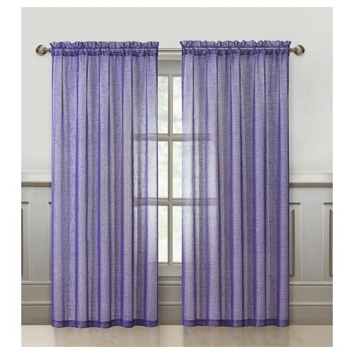 VCNY Sparkle 84-Inch Rod Pocket Curtain Panel Purple