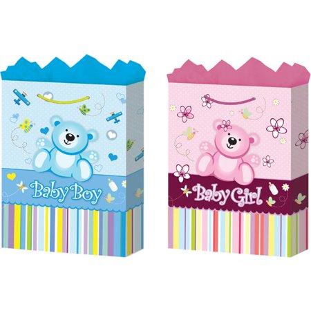 Bulk Buys Large Baby Gift Bags   Matte   Case Of 24
