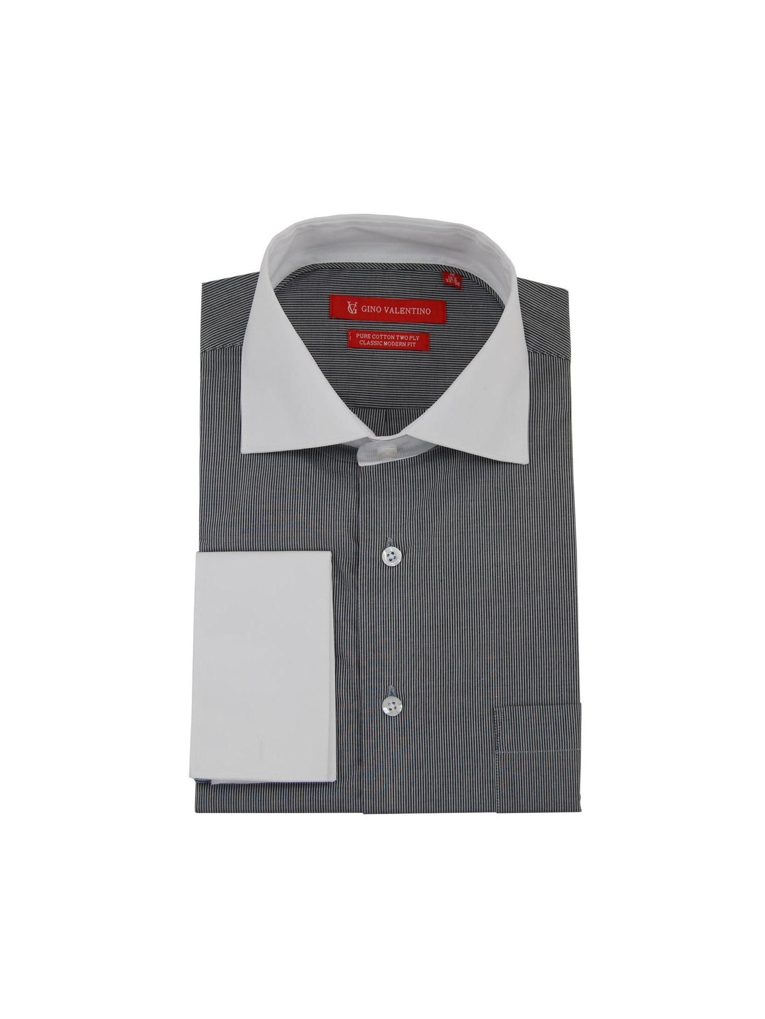 Dti Executive Dti Executive Mens Stripe Dress Shirt Cotton Spread