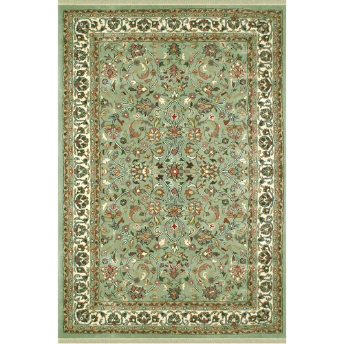 American Home Rug Co. American Home Classic Kashan Light Green/Ivory Area Rug