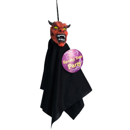 Veil Entertainment Shrunken Head Cloaked Demon 12 in Decoration Prop, Red Black](Shrunken Heads For Sale)