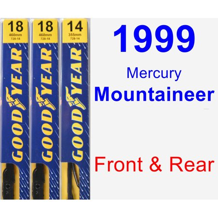 1999 Mercury Mountaineer Wiper Blade Set/Kit (Front & Rear) (3 Blades) -