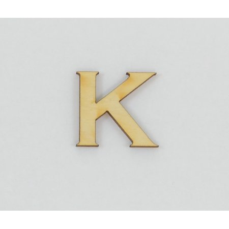 1 Pc, 8 Inch X 1/8 Inch Thick Wood Letters K In The Copperplate Gothic Bold Font Great For Craft Project & Different Decor (Letter K Craft)