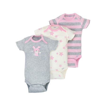 Newborn Baby Girl Onesies Brand Organic Short Sleeve Bodysuits, 3-pack - Halloween Onesies For Kids