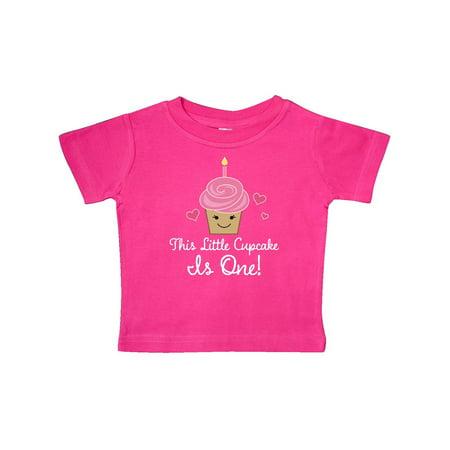 1st Birthday Cupcake Girls Cute Baby T-Shirt (Perfect Gift For Baby Girl First Birthday)