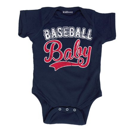 Baby Boy Script (Baseball Baby Vintage Style Distressed Sports Tail Script Infant Baby)