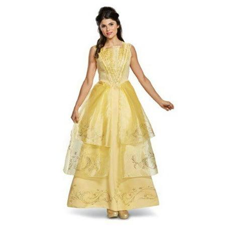 Belle Ball Gown Adult Deluxe Halloween Costume, Medium - 12-14 (Halloween Costume Ball Gowns)