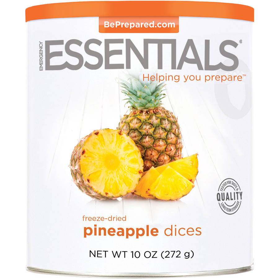 Emergency Essentials Freeze-Dried Pineapple Dices, 10 oz by Emergency Essentials