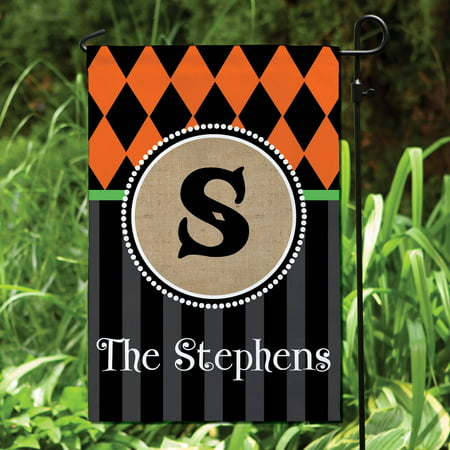 Halloween Greetings Personalized Garden Flag