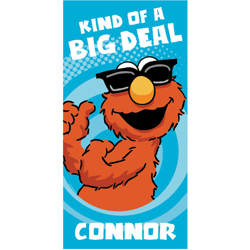 Personalized Sesame Street Big Deal Elmo Beach Towel