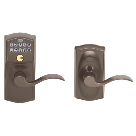 schlage fe595vcam716acc aged bronze accent entry lever keypad lock. Black Bedroom Furniture Sets. Home Design Ideas