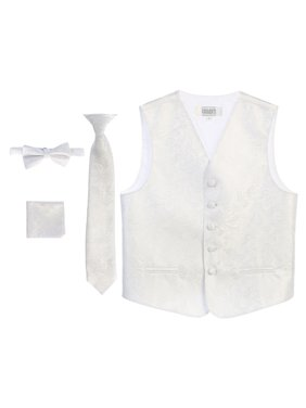 Boy's 4 Piece Formal Paisley Vest Set