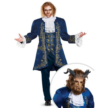 Disney Beauty and the Beast Movie: Beast Prestige Adult Costume and Beast Ultra Prestige Adult Mask](Beauty And Beast Mask)
