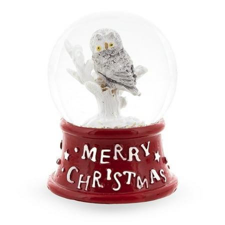 White Owl Miniature Snow - Birthday Snow Globes