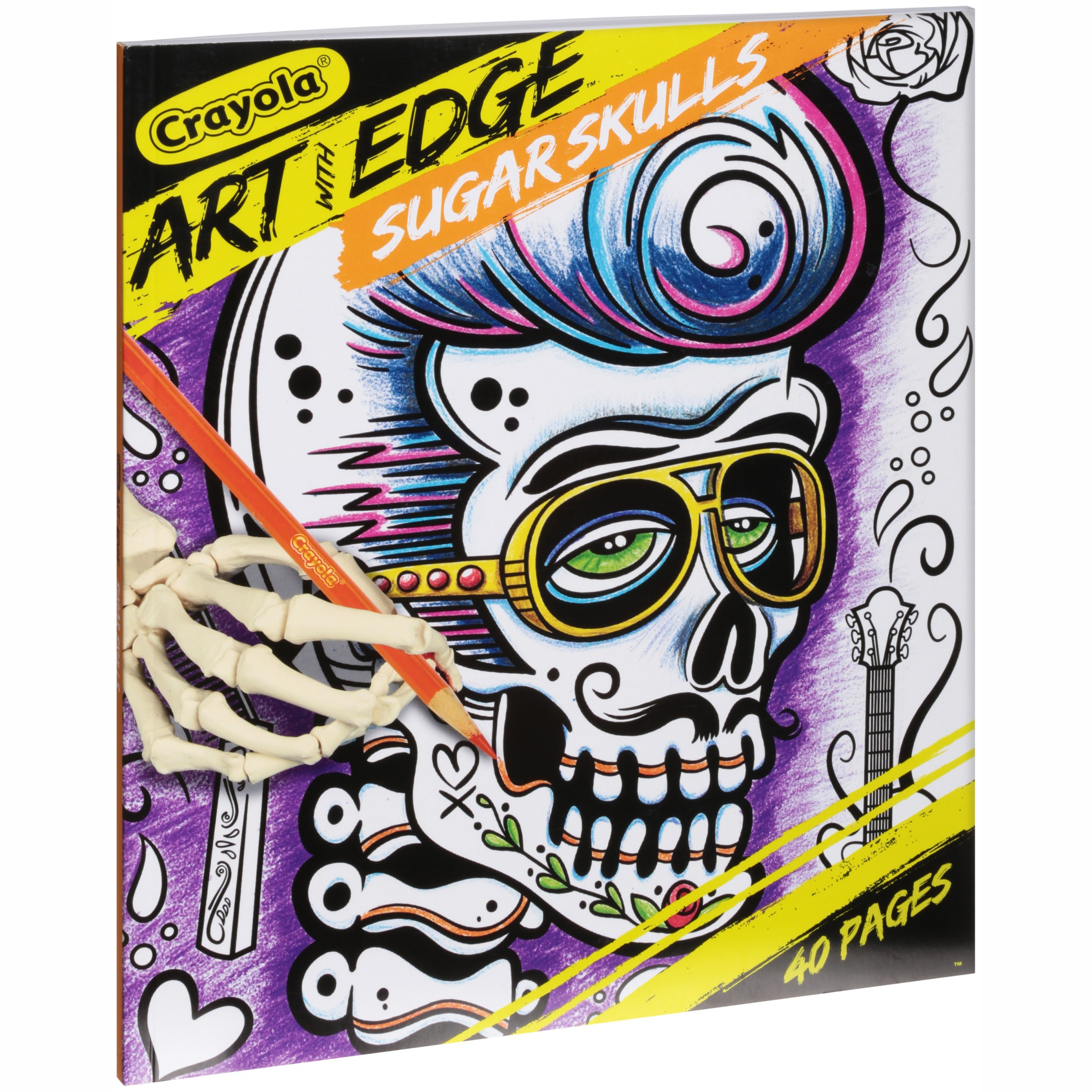 Crayola Art With Edge, Sugar Skulls, 40�Premium Coloring Pages by Crayola