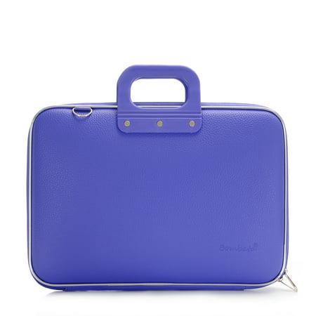 Lined Top Zip Briefcase (Medio Briefcase 13 Inch (Purple, 15 X 11.4 X 2.8) )
