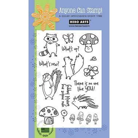 - Poly Clear - Woodland Creatures, Each Stamps measuring Set Cook Heels Poly Clear Woodland Arts Creatures The Design by High Die Cut Stamp sets Lia Precious Baby.., By Hero - Baby Footprint Stamp