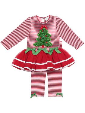 Red Striped Tutu Set With Ruched Tree 12- 24 months 12 months