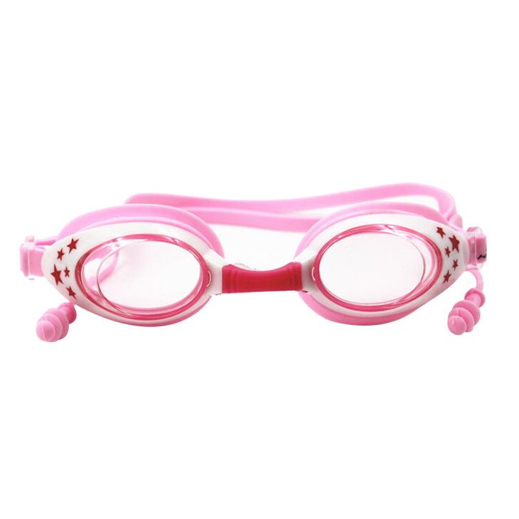 HNSD Children Kids Waterproof Silicone Anti Fog Swimming Glasses Goggles Eyewear Eyeglasses(Pink star) by HNSD