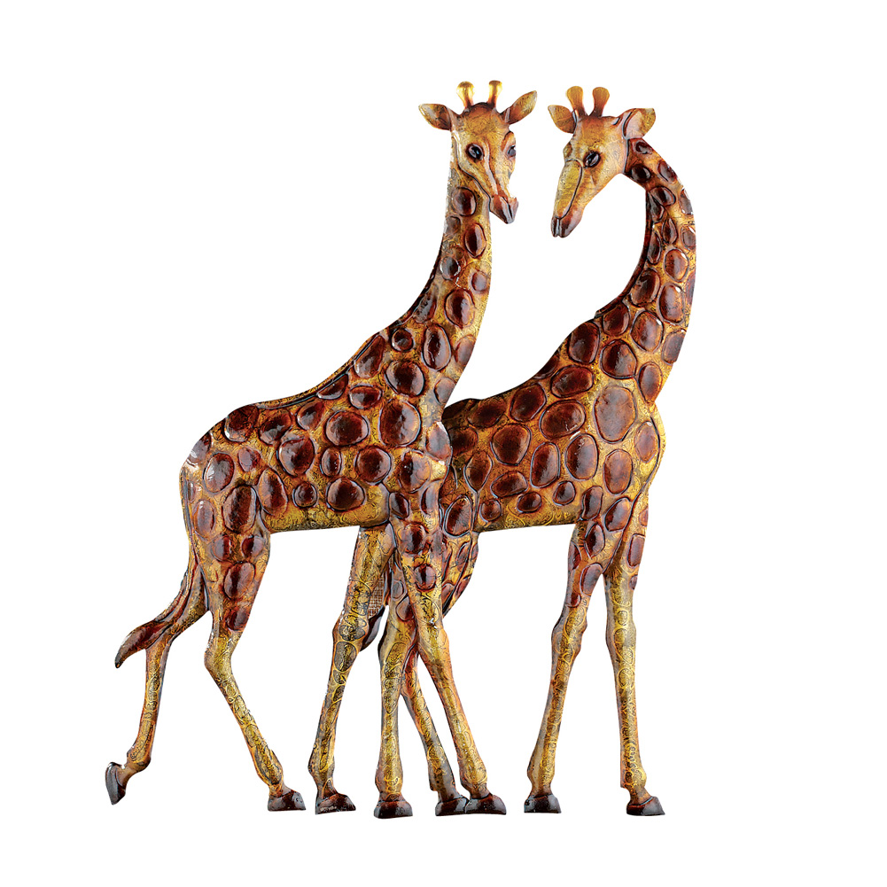 Giraffes Metal Wall Art 3D Safari African Décor for Living Room, Bedroom