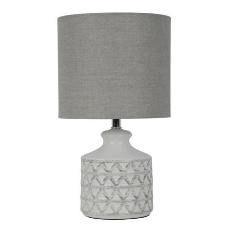 Better Homes & Gardens Diamond Weave Table Lamp, Distressed White