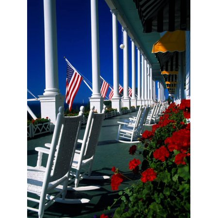 Porch of the Grand Hotel, Mackinac Island, Michigan, USA Print Wall Art](Halloween Usa Michigan)