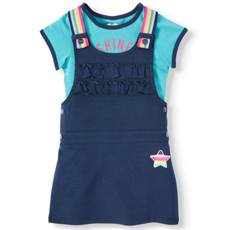 365 Kids From Garanimals French Terry Skirtall and Tee, 2-Piece Outfit Set (Little Girls & Big Girls) ()