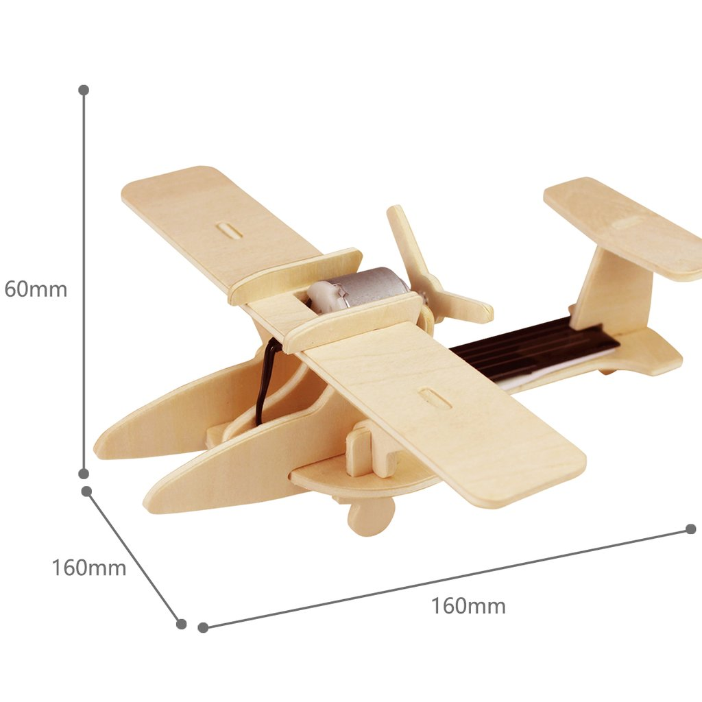 RoboTime: Solar Energy Drived - Natural Wooden Aircrafts - Agricultural Airplane - P260 - image 2 de 2
