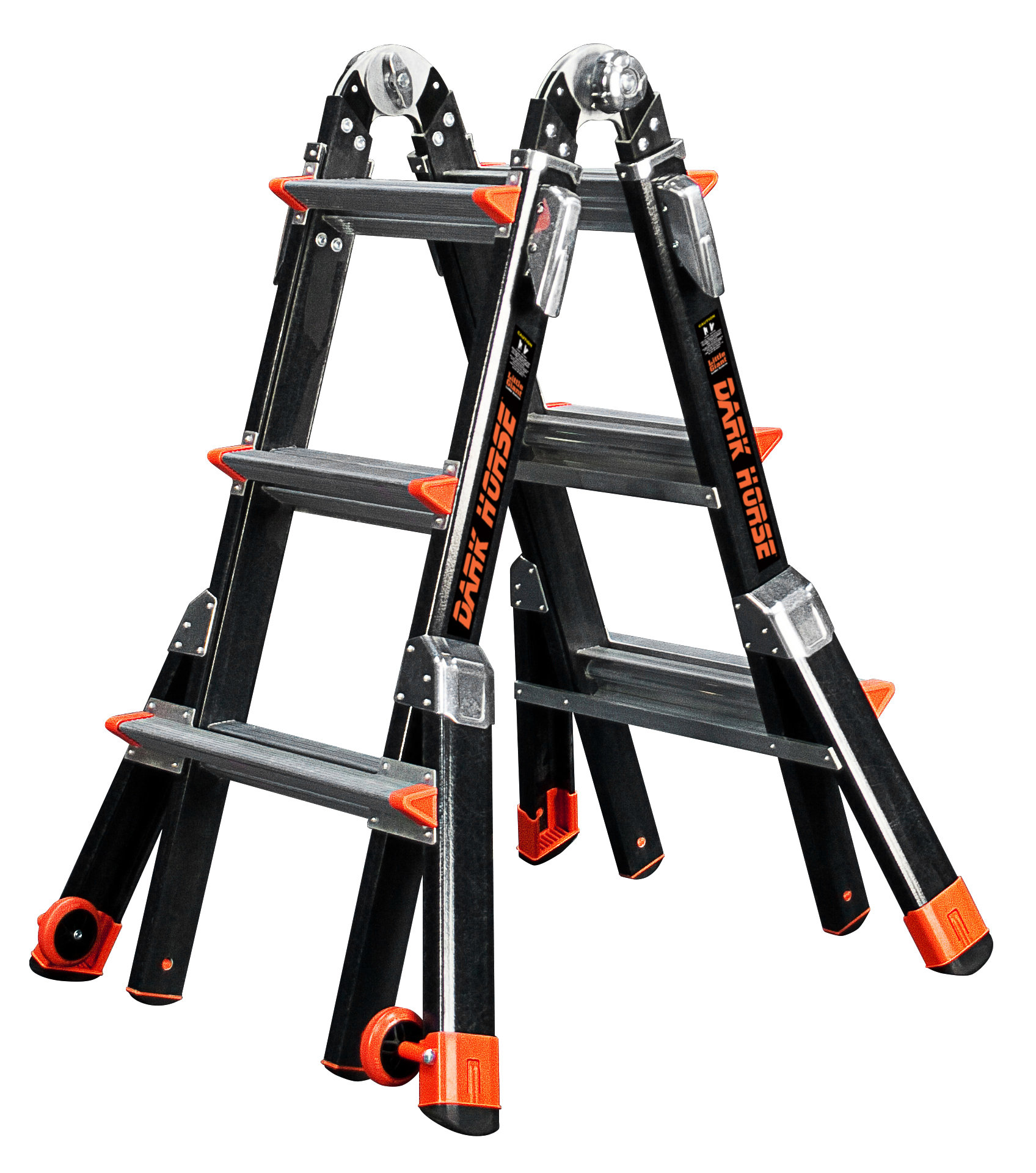 Little Giant Dark Horse, Model 13 Type IAA 375 lbs rated, fiberglass articulating ladder by Wing Enterprises, Inc.