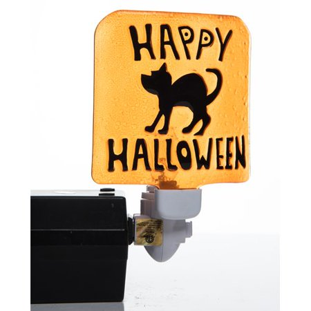 The Holiday Aisle Ralph Halloween Ghost and Black Cat 2 Piece Night Light Set