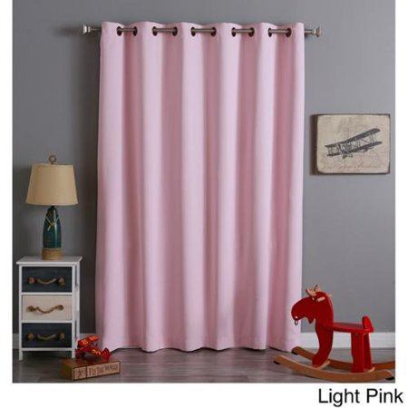 Aurora Home Extra Wide Thermal 96 Inch Blackout Curtain Panel Light Pink