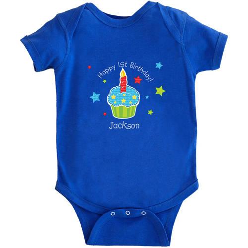 Personalized Birthday Baby Bodysuit, Cupcake