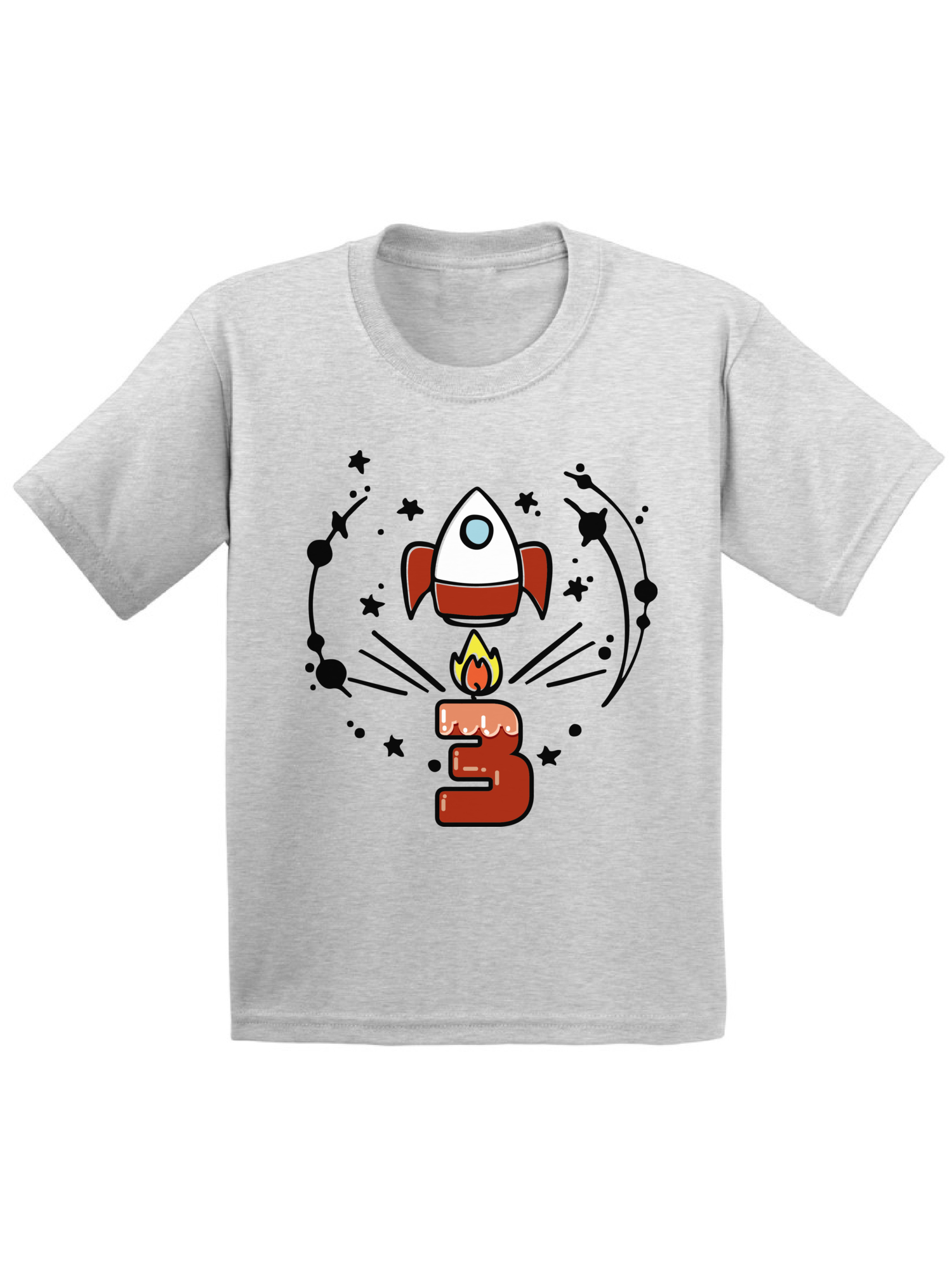 Awkward Styles Birthday Gift For 3 Years Old Kids Toddler Rocket Space Shirts 3rd Party Themed