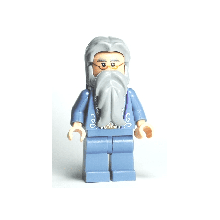 LEGO Harry Potter - Dumbledore, Sand Blue Outfit with Silver Embroidery - Harry Potter Outfits