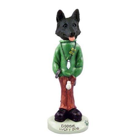 German Shepherd Black Lucky Dog Doogie Collectable Figurine
