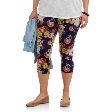 516c38e6bc863 Faded Glory - Women's Plus-Size Capri Leggings - Walmart.com