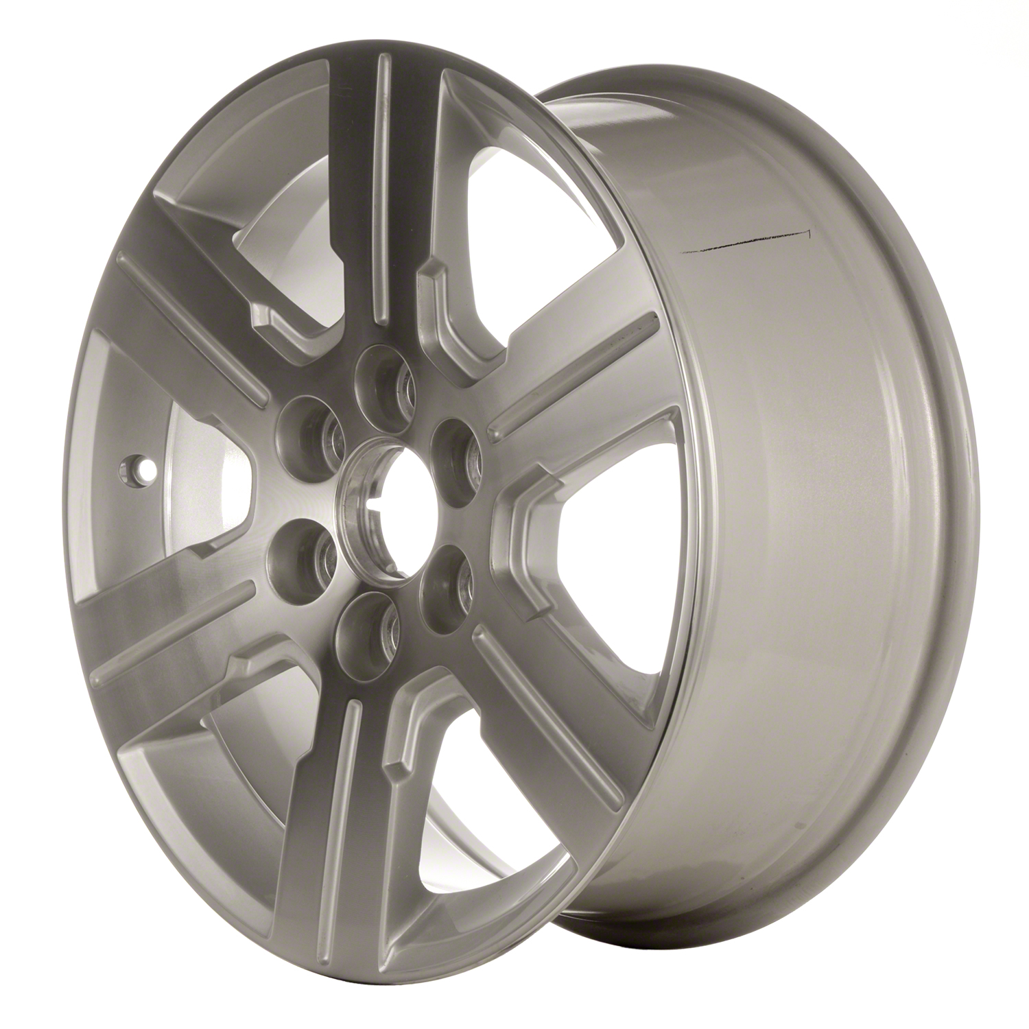 2009-2012 Chevrolet Traverse  18x7.5 Alloy Wheel, Rim Silver Metallic Painted with Machined Face - 5408